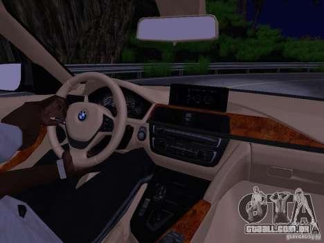 BMW 335i F30 Coupe para GTA San Andreas vista interior