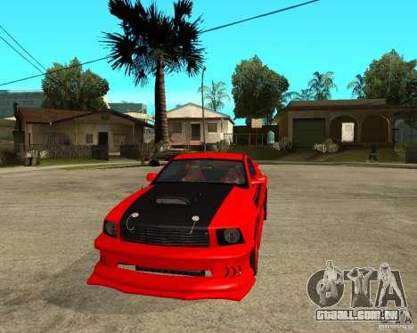 Ford Mustang Red Mist Mobile para GTA San Andreas vista traseira