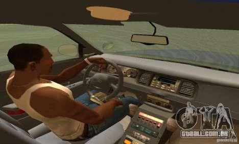 Ford Crown Victoria Orgeon Police para GTA San Andreas traseira esquerda vista