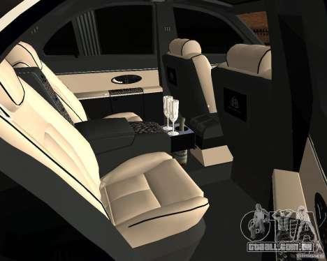 Maybach 57S para GTA San Andreas vista traseira
