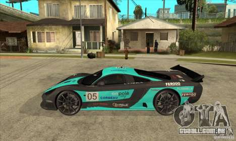 Saleen S7 Twin Turbo para GTA San Andreas esquerda vista
