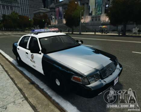 Ford Crown Victoria LAPD para GTA 4 esquerda vista