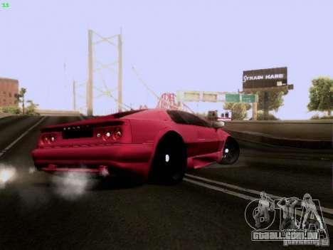 Lotus Esprit V8 para GTA San Andreas vista traseira