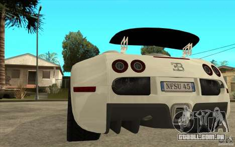 Spoiler para a Bugatti Veyron Final para GTA San Andreas terceira tela