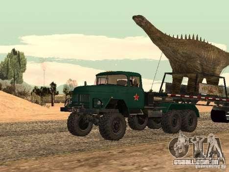 Trailer de dinossauro para GTA San Andreas traseira esquerda vista