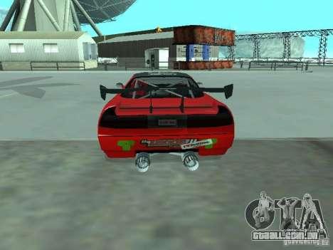 Infernus Drift Edition para GTA San Andreas traseira esquerda vista