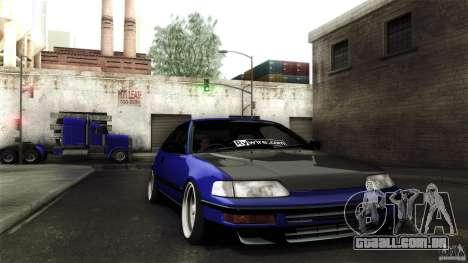 Honda CRX JDM para vista lateral GTA San Andreas