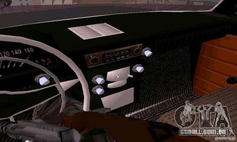 Moskvich 412 para GTA San Andreas vista interior
