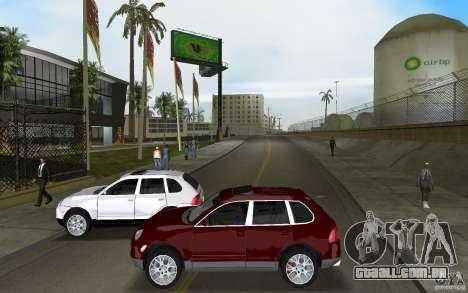 Porsche Cayenne para GTA Vice City vista interior