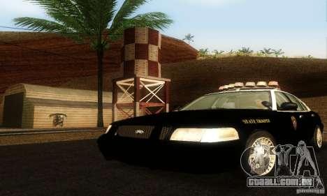 Ford Crown Victoria Wyoming Police para GTA San Andreas