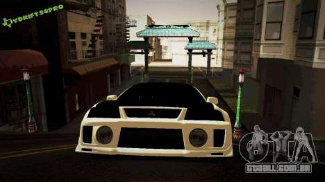 Mitsubishi Lancer Evolution 6 para GTA San Andreas esquerda vista