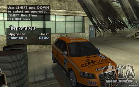 Audi S3 Tunable para vista lateral GTA San Andreas