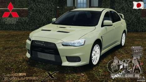 Mitsubishi Lancer Evolution X 2007 para GTA 4