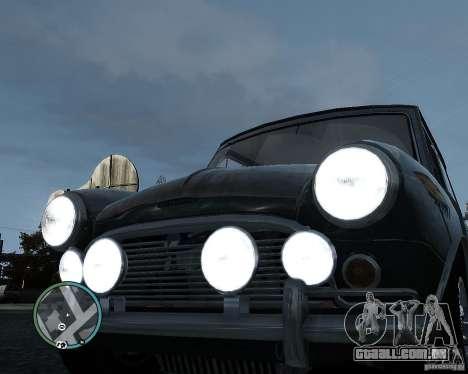 Austin Mini Cooper S para GTA 4 vista interior