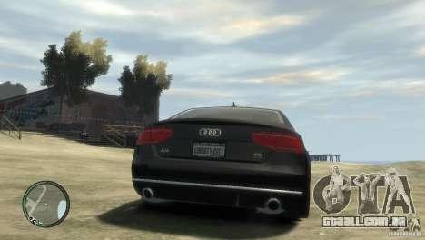 Audi A8 V8 FSI para GTA 4 esquerda vista