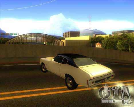 Chevy Chevelle SS stock 1970 para GTA San Andreas traseira esquerda vista