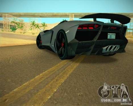 Lamborghini Aventador J para GTA San Andreas vista direita