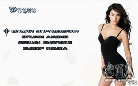 Megan Fox de telas de inicialização para GTA San Andreas terceira tela