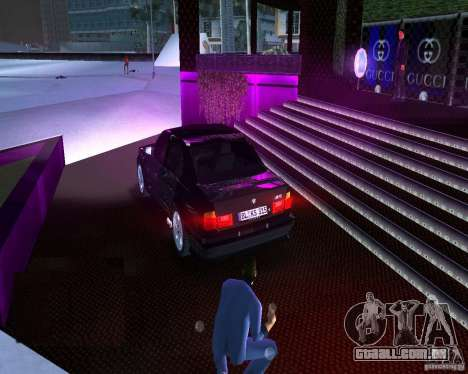BMW M5 E34 1990 para GTA Vice City deixou vista