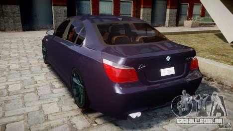BMW M5 Lumma Tuning [BETA] para GTA 4 traseira esquerda vista