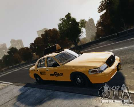 Ford Crown Victoria NYC Taxi 2012 para GTA 4 vista lateral