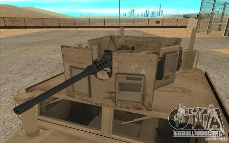 Hummer H1 Military HumVee para GTA San Andreas vista direita