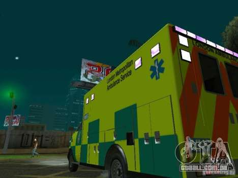London Ambulance para vista lateral GTA San Andreas