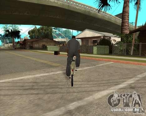 Bicicleta nova para GTA San Andreas esquerda vista