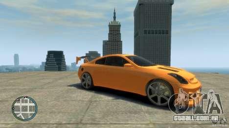 INFINITI G35 COUPE TUNNING para GTA 4 traseira esquerda vista
