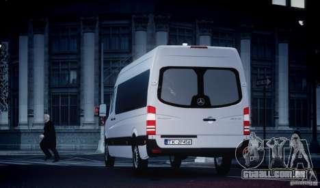 Mercedes-Benz Sprinter Long para GTA 4 vista interior