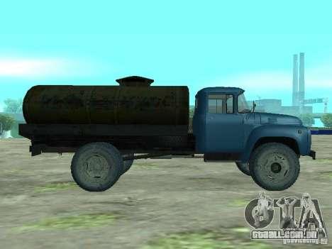 ZIL 130 tanque de leite para GTA San Andreas esquerda vista