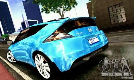 Honda CR-Z 2010 V2.0 para GTA San Andreas traseira esquerda vista