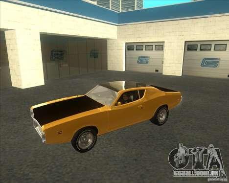 Dodge Charger RT 1971 para GTA San Andreas esquerda vista
