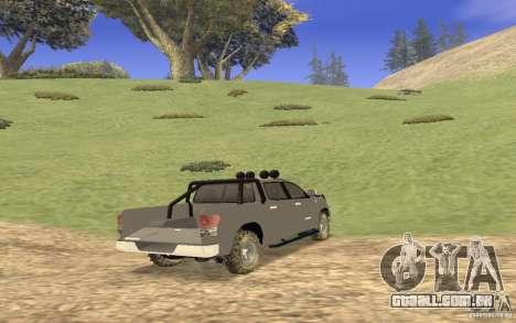 Toyota Tundra 4x4 para GTA San Andreas vista direita