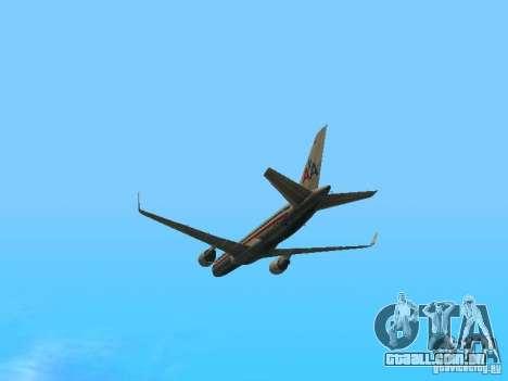 Boeing 757-200 American Airlines para GTA San Andreas vista interior