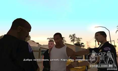 Crack para a versão Steam do GTA San Andreas para GTA San Andreas quinto tela