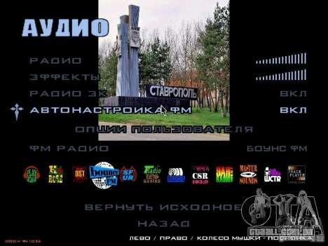 Tela de boot, a cidade de Stavropol para GTA San Andreas por diante tela