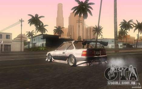 Toyota Soarer GZ20 para GTA San Andreas traseira esquerda vista