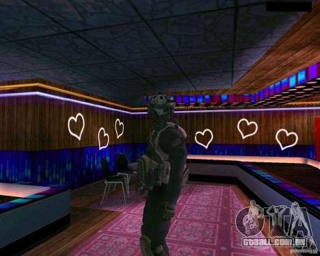 A segunda pele do CoD MW 2 para GTA San Andreas terceira tela
