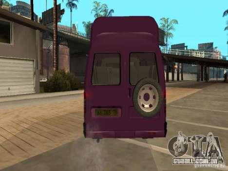 Táxi de gazela 32213 para GTA San Andreas vista traseira