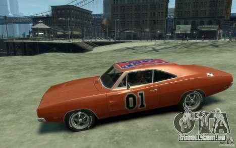 Dodge Charger General Lee v1.1 para GTA 4 esquerda vista