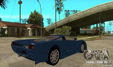 Saleen S7 v1.0 para GTA San Andreas vista direita