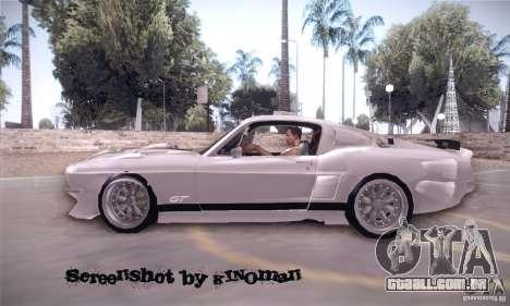Shelby GT500 para GTA San Andreas esquerda vista