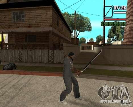Sasuke sword para GTA San Andreas terceira tela