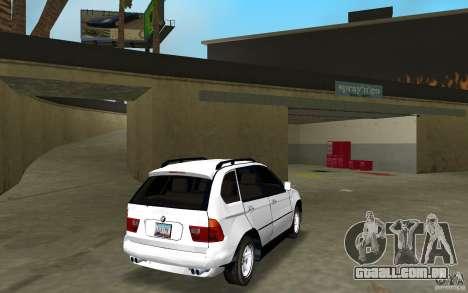 BMW X5 para GTA Vice City vista direita