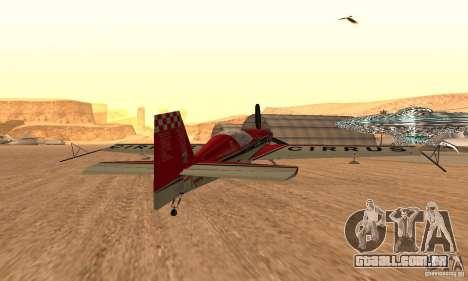 Extra 300L para GTA San Andreas traseira esquerda vista