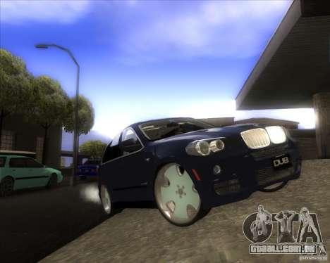 BMW X5 dubstore para GTA San Andreas vista superior