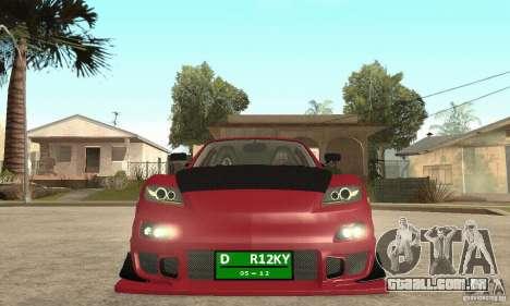 Ligar o motor e os faróis e para GTA San Andreas segunda tela