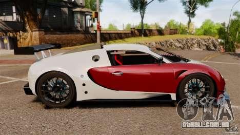 Bugatti Veyron 16.4 Body Kit Final Stock para GTA 4 esquerda vista