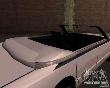 Taxi Cabrio para GTA San Andreas vista direita